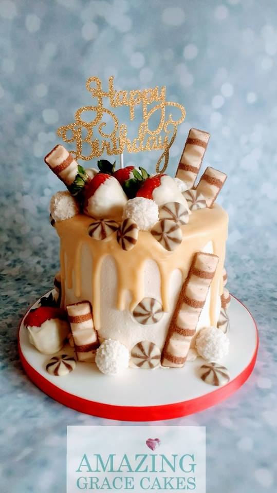 White Chocolate Drip Cake